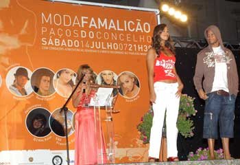 Rita Pereira espalhou simpatia e glamour no Moda Famalicão 2007