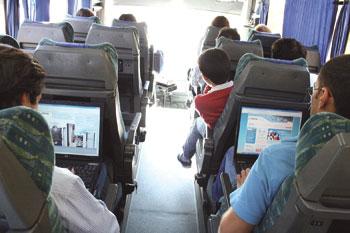 Internet nos autocarros Arriva