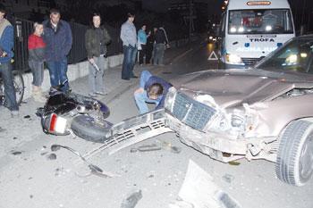 Roubou moto e provocou acidente