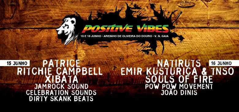 Festival Positive Vibes 2012, 1ª Edição