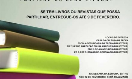 """""""Ler não custa nada, mesmo nada"""" incentiva à troca de livros na Trofa até 9 de fevereiro"""