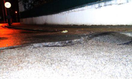 Já estão em reparação estrada e conduta de água
