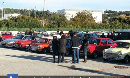 Concentração de veículos clássicos e antigos