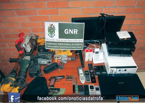 GNR detém suspeito,  identifica nove e recupera material furtado