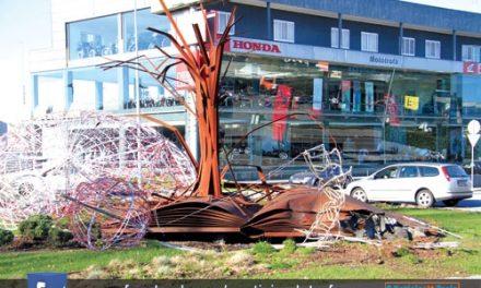 Dois acidentes na Rotunda do Professor numa semana