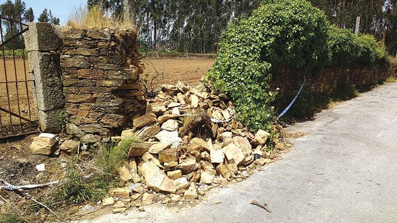 Muro junto ao acesso ao Parque das Azenhas preocupa moradores