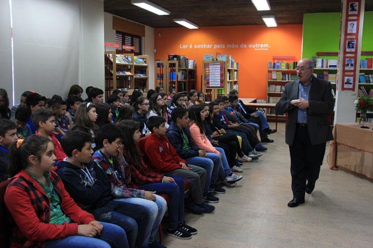 Moreira da Silva falou de felicidade com alunos de Alvarelhos (C/ Vídeo)