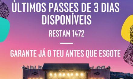 Festival NOS Alive'17 – Últimos Passes