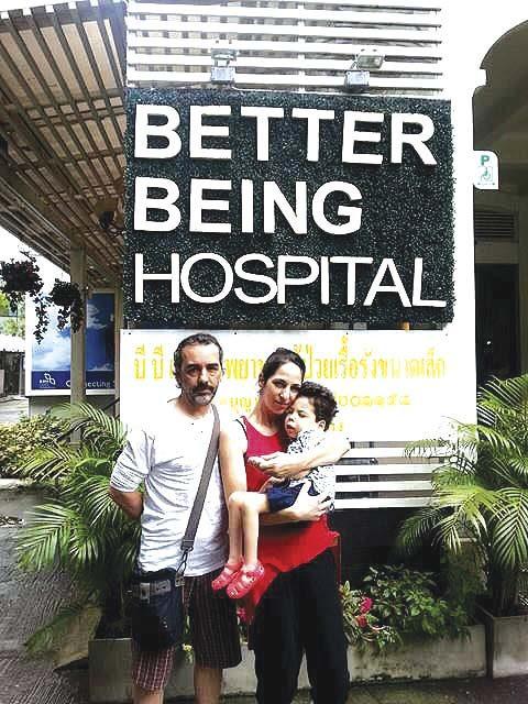 Samuel já iniciou os tratamentos para a paralisia cerebral