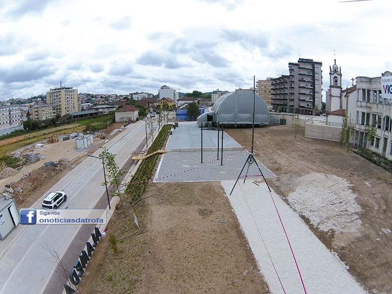 Alameda da Estação inaugurada, mas com obras por terminar