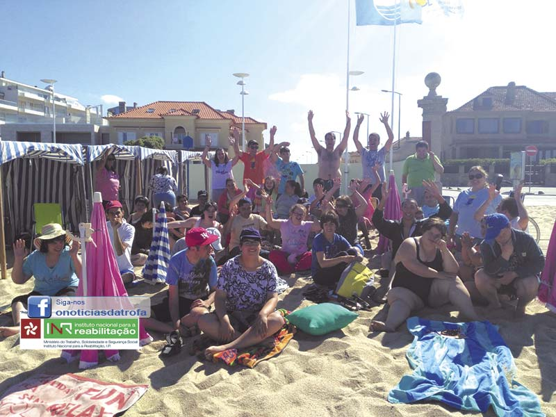 APPACDM foi à praia