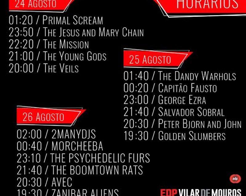 Festival EDP Vilar de Mouros – Horários