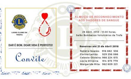 Reconhecimento aos dadores de sangue
