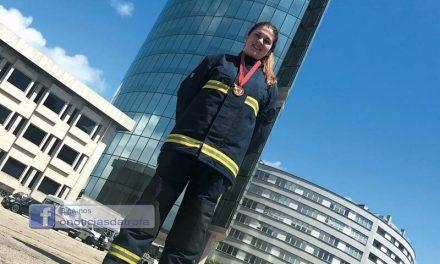 Bombeira da Trofa participou em concurso internacional
