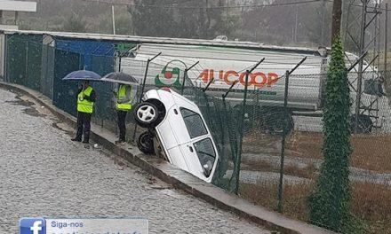 Estrada perigosa com regresso da chuva