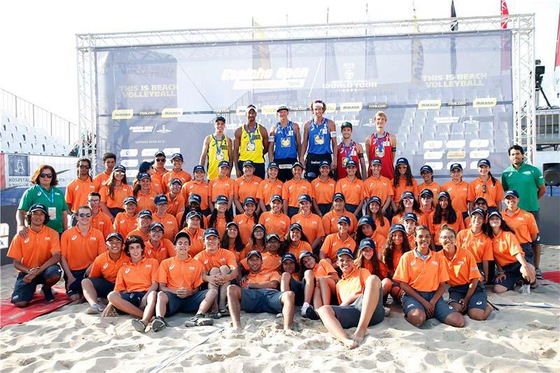 Trofenses em voluntariado no World Tour de Voleibol de Praia