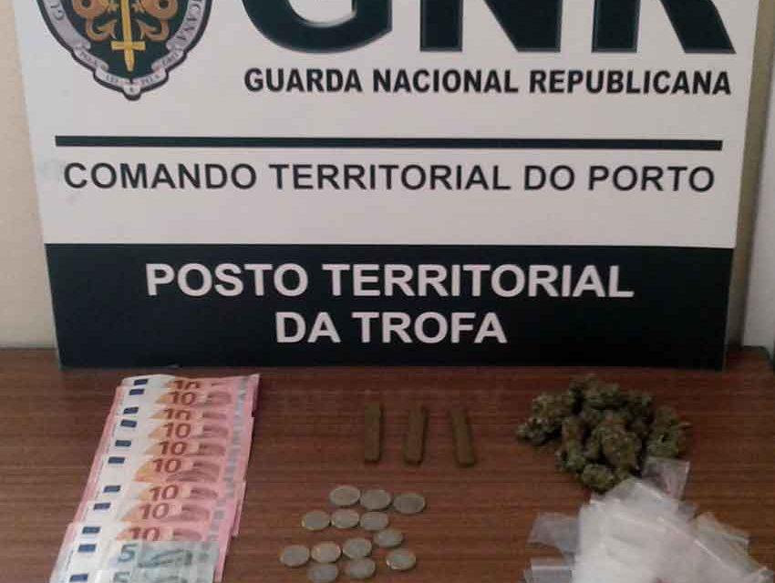 GNR detém dois jovens com droga em Alvarelhos