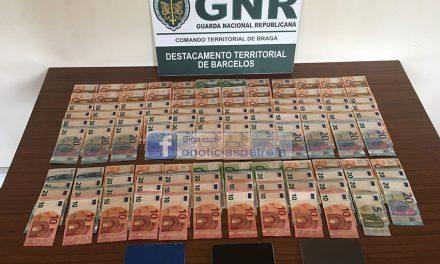 Burlões detidos pela GNR em Alvarelhos