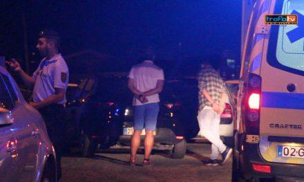 Perseguição policial acaba em despiste na Maganha (c/ vídeo)