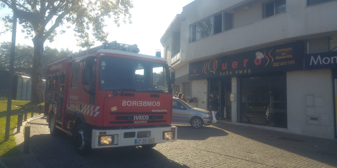 Incêndio em restaurante.