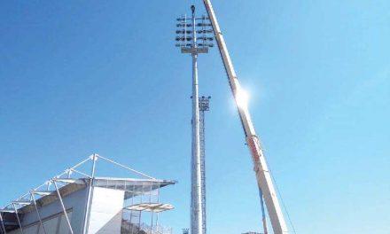 Metalogalva produz colunas do estádio do SD Huesca