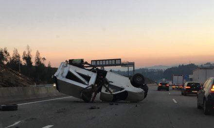 Acidente na A3 antes do nó Trofa/Santo Tirso congestiona trânsito