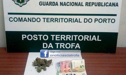 Jovem detido em S. Romão por tráfico de droga