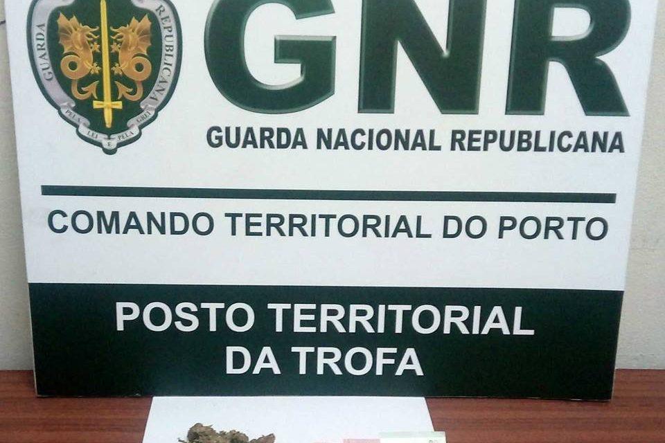 GNR da Trofa detém indivíduo com 100 gramas de haxixe