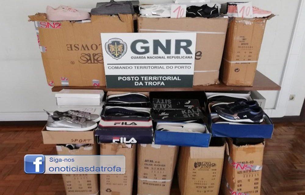 GNR da Trofa apreendeu 165 pares de calçado contrafeito