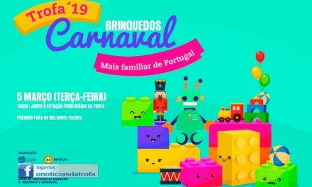 O mundo  dos brinquedos no Carnaval  da Trofa