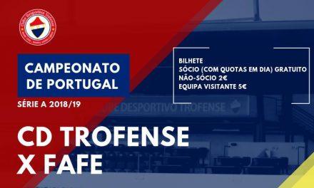 """Trofense recebe Fafe num jogo com """"porta aberta"""" para os sócios"""