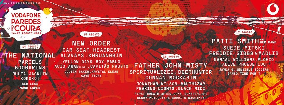 Festival Vodafone Paredes de Coura'19 – Cartaz Completo