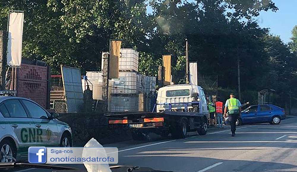 Acidente no Muro condiciona trânsito na EN14