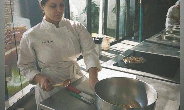 Lara Ferreira na final do Jovem Talento da Gastronomia