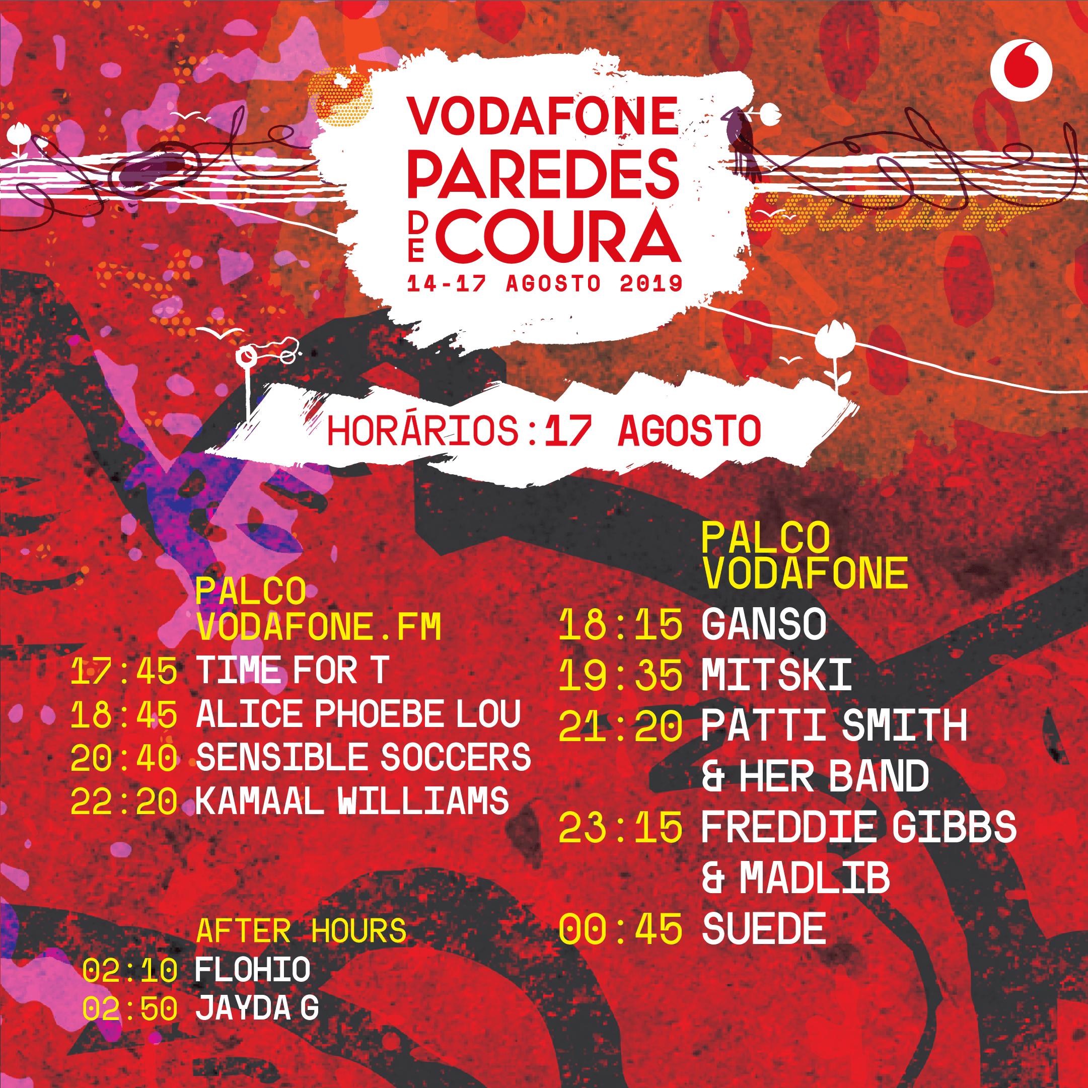 Festival Vodafone Paredes de Coura – Horários