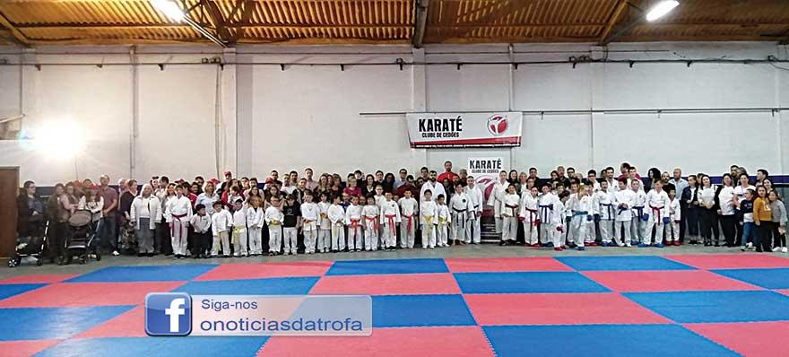 Karatecas de Cedões em festa