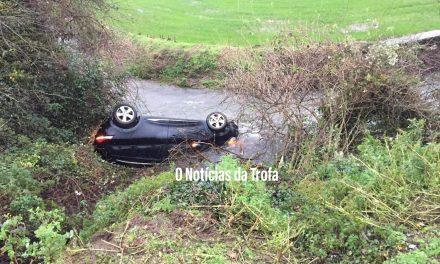 Carro caiu ao rio em Covelas