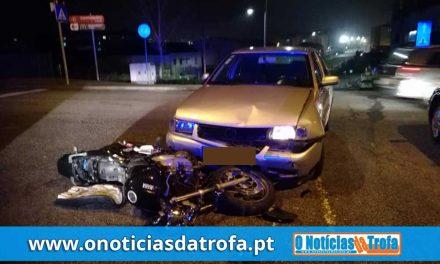 Homem ferido em colisão